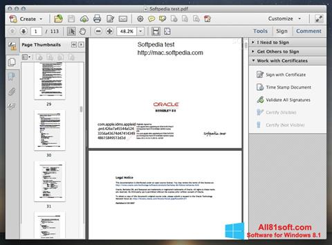 स्क्रीनशॉट Adobe Acrobat Windows 8.1