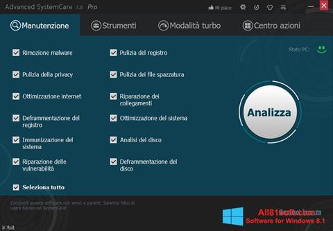 स्क्रीनशॉट Advanced SystemCare Pro Windows 8.1