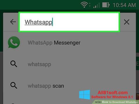 स्क्रीनशॉट WhatsApp Windows 8.1