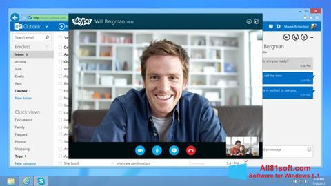 स्क्रीनशॉट Skype Windows 8.1
