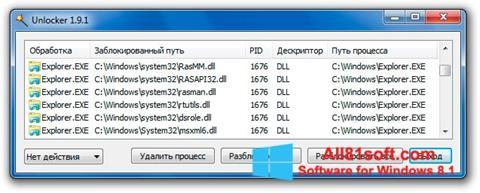 स्क्रीनशॉट Unlocker Windows 8.1