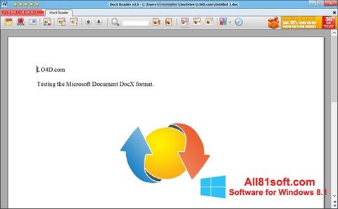 स्क्रीनशॉट DocX Reader Windows 8.1