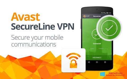 स्क्रीनशॉट Avast SecureLine VPN Windows 8.1